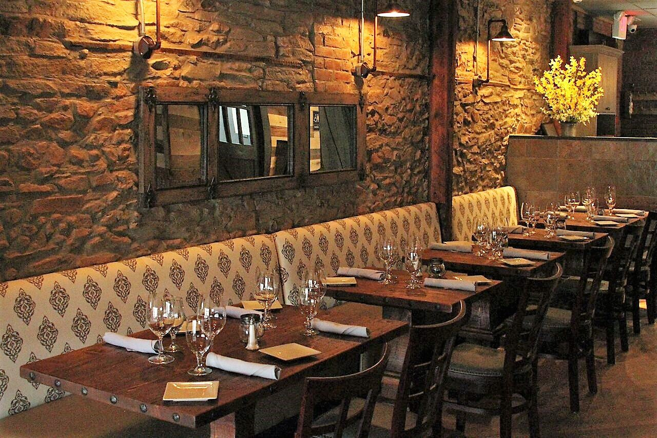 old-world inspiration sets the stage for a new jersey restaurant